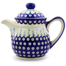 46 oz Stoneware Tea or Coffee Pot - Polmedia Polish Pottery H7051I