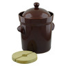 460 oz Stoneware Fermenting Crock Pot with Weight - Polmedia Polish Pottery H2652I
