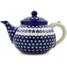 47 oz Stoneware Tea or Coffee Pot - Polmedia Polish Pottery H4592K