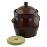 492 oz Stoneware Fermenting Crock Pot with Weight - Polmedia Polish Pottery H2656I