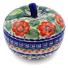 5-inch Stoneware Apple Shaped Jar - Polmedia Polish Pottery H0566K