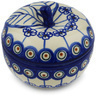 5-inch Stoneware Apple Shaped Jar - Polmedia Polish Pottery H0637H