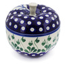 5-inch Stoneware Apple Shaped Jar - Polmedia Polish Pottery H1411B