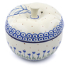 5-inch Stoneware Apple Shaped Jar - Polmedia Polish Pottery H2637B