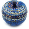 5-inch Stoneware Apple Shaped Jar - Polmedia Polish Pottery H2820C