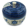 5-inch Stoneware Apple Shaped Jar - Polmedia Polish Pottery H2851A