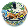 5-inch Stoneware Apple Shaped Jar - Polmedia Polish Pottery H3452H