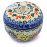 5-inch Stoneware Apple Shaped Jar - Polmedia Polish Pottery H3550I