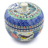 5-inch Stoneware Apple Shaped Jar - Polmedia Polish Pottery H3554I
