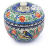 5-inch Stoneware Apple Shaped Jar - Polmedia Polish Pottery H3555I