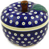 5-inch Stoneware Apple Shaped Jar - Polmedia Polish Pottery H3760D