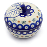 5-inch Stoneware Apple Shaped Jar - Polmedia Polish Pottery H4650J