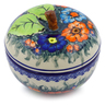 5-inch Stoneware Apple Shaped Jar - Polmedia Polish Pottery H4651J