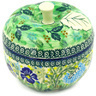 5-inch Stoneware Apple Shaped Jar - Polmedia Polish Pottery H5154D