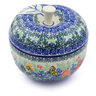 5-inch Stoneware Apple Shaped Jar - Polmedia Polish Pottery H5438I