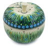 5-inch Stoneware Apple Shaped Jar - Polmedia Polish Pottery H5637J