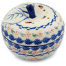5-inch Stoneware Apple Shaped Jar - Polmedia Polish Pottery H5720I