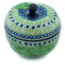 5-inch Stoneware Apple Shaped Jar - Polmedia Polish Pottery H6880H