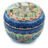 5-inch Stoneware Apple Shaped Jar - Polmedia Polish Pottery H6881H