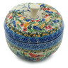 5-inch Stoneware Apple Shaped Jar - Polmedia Polish Pottery H6883H