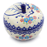 5-inch Stoneware Apple Shaped Jar - Polmedia Polish Pottery H7072I
