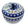 5-inch Stoneware Apple Shaped Jar - Polmedia Polish Pottery H7186E