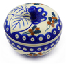 5-inch Stoneware Apple Shaped Jar - Polmedia Polish Pottery H7189E