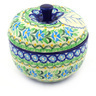 5-inch Stoneware Apple Shaped Jar - Polmedia Polish Pottery H7256F