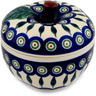 5-inch Stoneware Apple Shaped Jar - Polmedia Polish Pottery H7282C