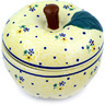 5-inch Stoneware Apple Shaped Jar - Polmedia Polish Pottery H9354C