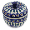 5-inch Stoneware Apple Shaped Jar - Polmedia Polish Pottery H9400J