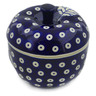 5-inch Stoneware Apple Shaped Jar - Polmedia Polish Pottery H9430J