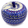 5-inch Stoneware Apple Shaped Jar - Polmedia Polish Pottery H9840I