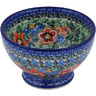 5-inch Stoneware Bowl with Pedestal - Polmedia Polish Pottery H0699G