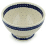 5-inch Stoneware Bowl with Pedestal - Polmedia Polish Pottery H3031B