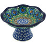 5-inch Stoneware Bowl with Pedestal - Polmedia Polish Pottery H3619G