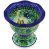 5-inch Stoneware Bowl with Pedestal - Polmedia Polish Pottery H3661G