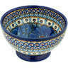5-inch Stoneware Bowl with Pedestal - Polmedia Polish Pottery H4095A