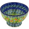 5-inch Stoneware Bowl with Pedestal - Polmedia Polish Pottery H4166G