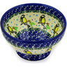 5-inch Stoneware Bowl with Pedestal - Polmedia Polish Pottery H4321D