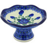 5-inch Stoneware Bowl with Pedestal - Polmedia Polish Pottery H4903G