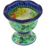 5-inch Stoneware Bowl with Pedestal - Polmedia Polish Pottery H5473G