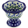 5-inch Stoneware Bowl with Pedestal - Polmedia Polish Pottery H5730G
