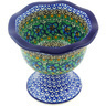 5-inch Stoneware Bowl with Pedestal - Polmedia Polish Pottery H5821G