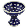 5-inch Stoneware Bowl with Pedestal - Polmedia Polish Pottery H8216G