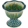 5-inch Stoneware Bowl with Pedestal - Polmedia Polish Pottery H9328G