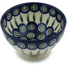 5-inch Stoneware Bowl with Pedestal - Polmedia Polish Pottery H9830A