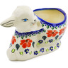 5-inch Stoneware Bunny Shaped Jar - Polmedia Polish Pottery H0487K