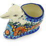 5-inch Stoneware Bunny Shaped Jar - Polmedia Polish Pottery H1233H