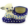 5-inch Stoneware Bunny Shaped Jar - Polmedia Polish Pottery H5919F